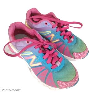New Balance Toddler Pink Blue Sneakers 11